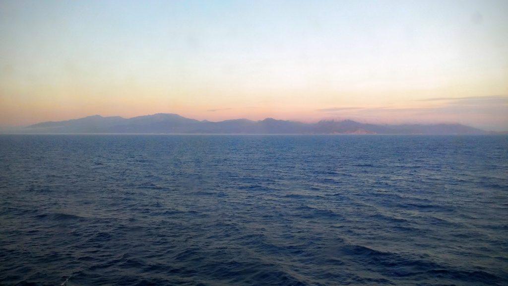 Arrivée à Bastia en ferry